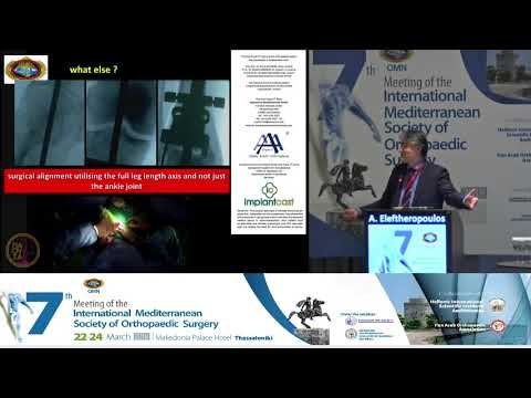 A Eleftheropoulos - Ankle arthroplasty from the greek view