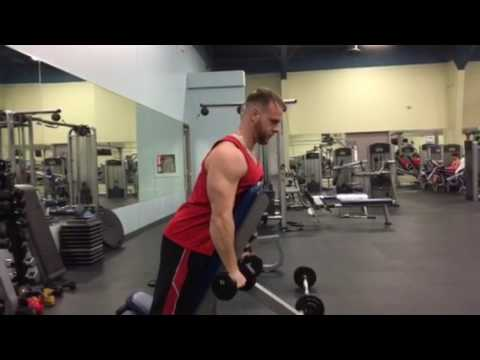 Dumbbell Chest Supported Lateral Raise
