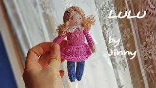 How To Knit Doll-litte Girl-LULU-4 Knitting Doll Tutorial 손뜨개인형 대바늘인형 태교인형 루루