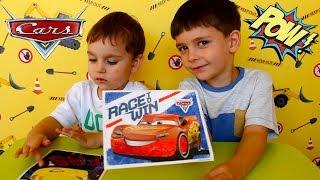 Делаем картины из песка Тачки 3 Маквин Крус Рамирес Развивающее видео Набор Disney Cars #Машинки