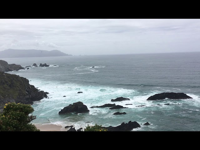 Fernblick über dem Atlantik an der Nordküste Spaniens