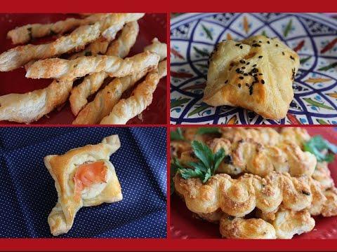 3 Puff Pastry Appetizer Recipes / 3 Recttes apero avec de la pate feuilletée