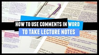 How to Take Comparison Notes in Word // 2 Minute Study Tips