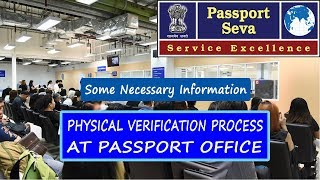 Physical verification process of fresh Passport 2019