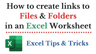 How to Link Files and Folders to cells in an Excel worksheet (Open PDF and MP3 files from Excel)