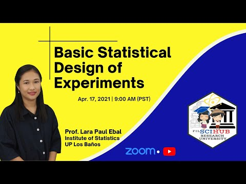 [FilSciHub Research University] Course #5: Basic Statistical Design of Experiments