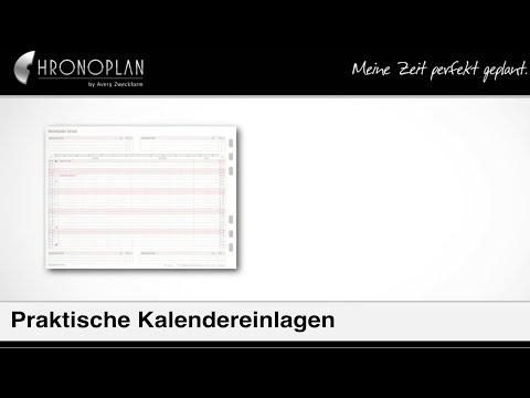 Effiziente Planung – CHRONOPLAN Kalendereinlage 2018