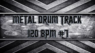 Simple Straight Metal Drum Track 120 BPM (HQ,HD)