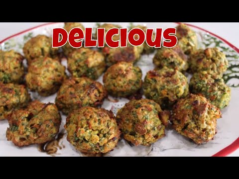 Holiday Spinach Parmesan Bites With Linda's Pantry