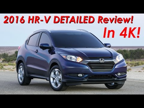 2016 Honda HR-V Crossover Review DETAILED! In 4K!
