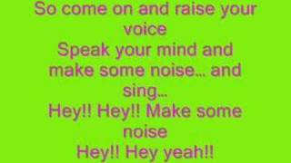 Hannah Montana-Make Some Noise FULL+LYRICS