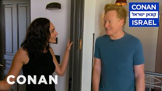 Conan Invites Himself To Gal Gadots Apartment  - CONAN On TBS