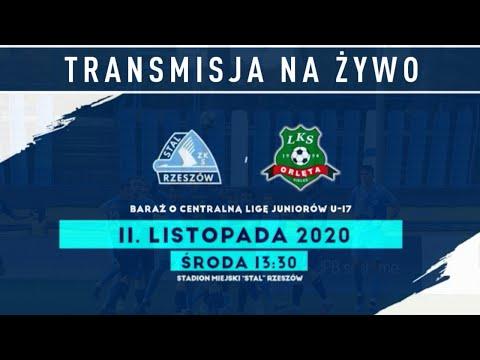 Baraże o awans do CLJ U-17: Stal Rzeszów - Orlęta Kielce [TRANSMISJA NA ŻYWO]