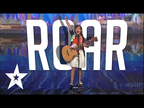 10 Year Old's Powerful Katy Perry Roar Cover | Got Talent Global