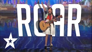 10 Year Old's Powerful Katy Perry Roar Cover   Got Talent Global
