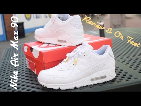 White Leather Nike Air Max 90 Review & On Foot