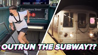 Track Star Races The NYC Subway