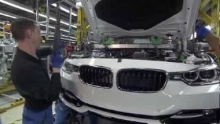 BMW 3 Series производство на заводе BMW в Мюнхене.