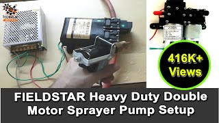 Battery Operated Spray Machine Double Pump 12v 15Ah - Самые