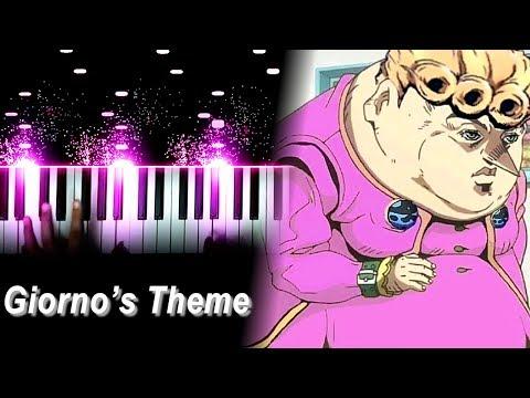 喬魯諾·喬巴拿黃金之風鎮魂曲教學!人人都可以擁有一台鋼琴了!