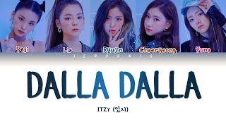 ITZY (있지) - DALLA DALLA (달라달라) (Color Coded Lyrics Han/Rom/Eng 작사 ) |Jendukie