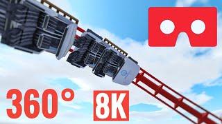 [360 VR 8K Video] Roller Coaster Virtual Reality Google Cardboard SBS