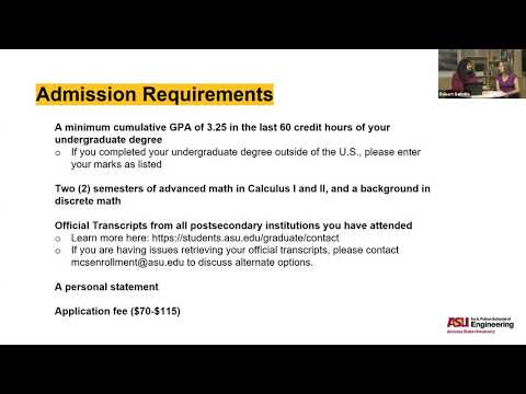 ASU's Online Master of Computer Science - Admissions Webinar ...