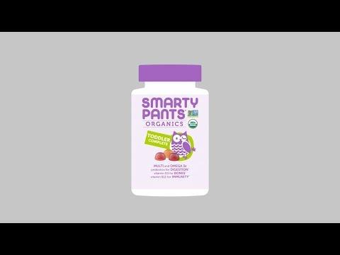 SmartyPants, Organics,幼儿配方,樱桃/混合浆果味,60 粒素食软糖