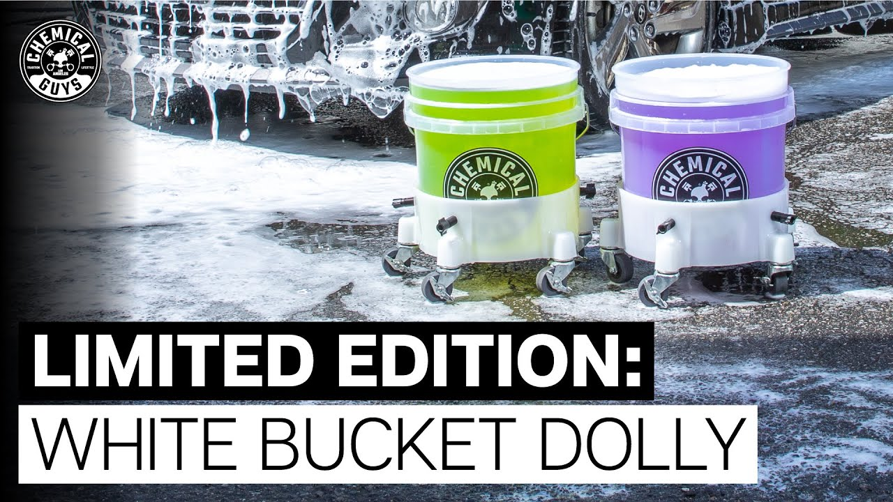 New White Bucket Dolly - Chemical Guys