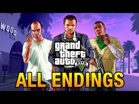 GTA 5: All Endings (Kill Michael, Kill Trevor, Save Michael