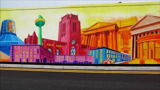 Time Lapse Video of the Liverpool Landmarks Mural at Liverpool Shopping Park