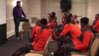Lyles Davis Surprised with Scholarship from Brad Brownell