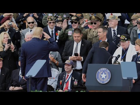 When President Donald Trump singled out 98-year-old Ray Lambert in his Normandy speech at the 75th-anniversary commemoration of D-Day, the WWII survivor took it as a tribute for all the men who fought that day. (June 6)