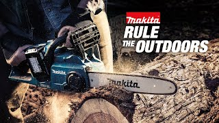 Makita 18V X2 (36V) LXT® Lithium-Ion Brushless Cordless Chain Saw and Blower with 4 Batteries (5.0Ah) - Thumbnail
