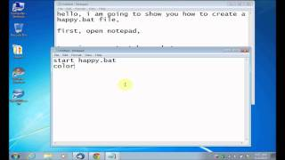 How To Make A Virus That Can Crash Your Computer In Notepad Happybat File