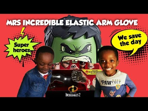 INCREDIBLES 2 MRS INCREDIBLE ELASTIC ARM GLOVE | JEMSPLAYTIME TO THE RESCUE