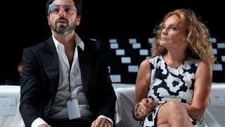 Google Glasses At Diane Von Furstenberg Show