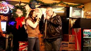 """Bobby Black and Alexia Counce sing """"In Anothers Eyes"""" at Karaoke bar"""