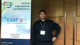 Sanish Sampath at CGAT Conference 2017 by GSTF Singapore