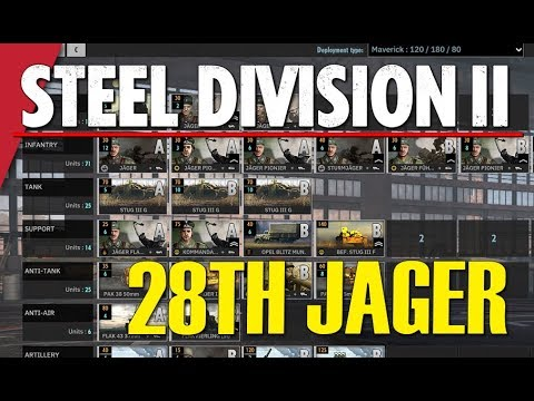 28th JAGER! Steel Division 2 Battlegroup BETA Preview #10