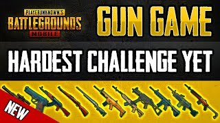 NEW GUN GAME! HARDEST CHALLENGE YET? PUBG MOBILE
