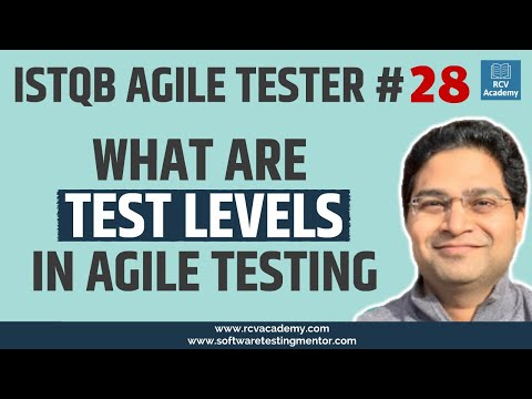 ISTQB Agile Tester #28 - What are Test Levels in Agile Testing ...