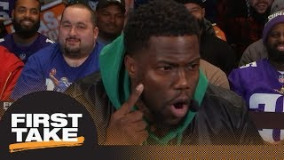 Kevin Hart: A tear spelling 'Foles' will fall down my face when Eagles win | First Take | ESPN - Video Youtube
