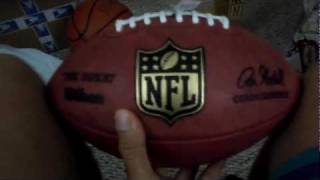 official nfl genuine leather the duke game ball unboxing review
