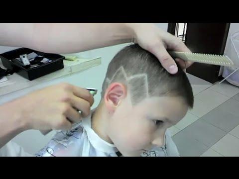 ▲МОДНАЯ СТРИЖКА для мальчиков с рисунком 2016 Fashion haircut for boys with riunkom