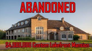 Exploring a Four Million Dollar Mansion | Lake Front Mansion | $4,000,000 Abandoned Mansion | Urbex