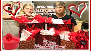VALENTINE'S DAY PRESENT OPENING AND HAUL: AND A SPECIAL GIFT FROM OUR YOUTUBE FRIENDS