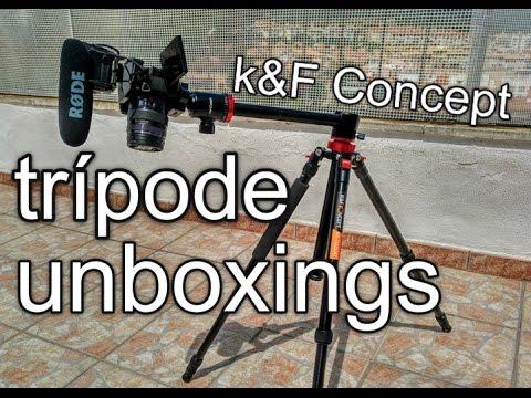 El trípode perfecto para Unboxings K&F Concept