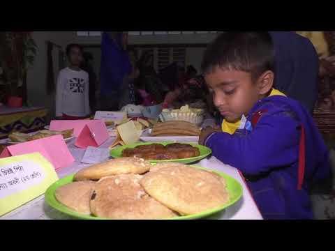 জয়পুরহাটে শিশুদের নিয়ে পিঠা ও ফুল উৎসব