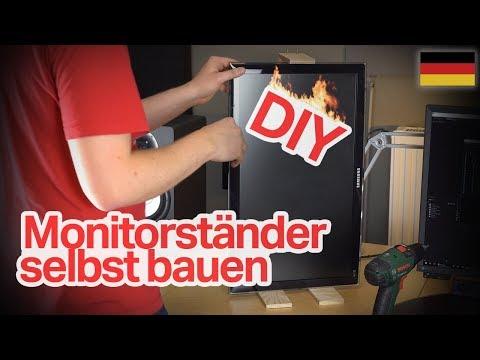Monitorständer selbst bauen (ohne VESA Bohrungen)